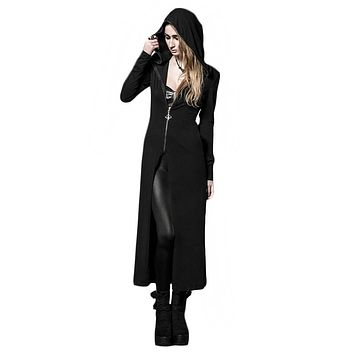 Korean Style Punk Women Coat With Long Withches's Hats Autumn Long Sleeve Sweater Knitted Sweatershirts Cardigans