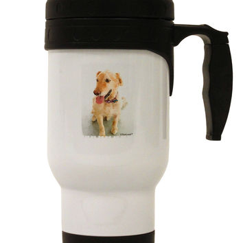 Golden Retriever Watercolor Stainless Steel 14oz Travel Mug
