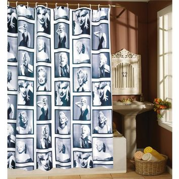 Waterproof Polyester Shower Curtains Marilyn Monroe Pattern Decorative Bathroom Shower Curtains Bath Screens 180x180/200CM