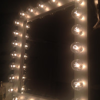 White Wedding Lighted Vanity Mirror