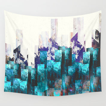 Cold cities Wall Tapestry by HappyMelvin
