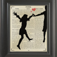 Young Lovers -printed on Frienship page. 250Gram paper.