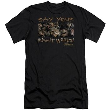 Labyrinth - Say Your Right Words Premuim Canvas Adult Slim Fit 30/1