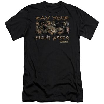 Labyrinth - Say Your Right Words Premium Canvas Adult Slim Fit 30/1 Shirt Officially Licensed T-Shirt