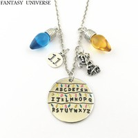 FANTASY UNIVERSE Free shipping 1pcs a lot Stranger Things Christmas Tree Lights charm necklaces KMSSKKI01