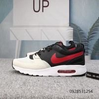 DCCK N654 Nike Air Max Vision SE 87 Knit Breathable Comfortable Running Shoes White Black Red