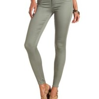"Refuge ""Hi-Waist Super Skinny"" Colored Jeans - Sage"