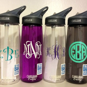 Monogrammed Personalized Camelbak Water Bottle. Perfect Easter Basket Stuffer