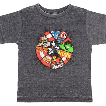 Marvel Comics The Avengers Superhero Power Shield Toddler Boys T-Shirt