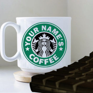 Starbuck Coffee Youre Names mug heppy mug coffee, mug tea, size 8,2 x 9,5 cm.