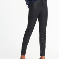 Mid-Rise Coated Pixie Ankle Pants for Women |old-navy