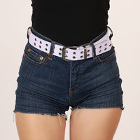 Perforated Belt (Purple)