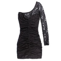 Sexiest nightclubs slim half shoulder shoulder lace Dress 99