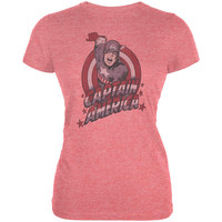 Captain America - Cap Red Juniors T-Shirt