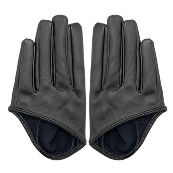 Half Palm Gloves in Black