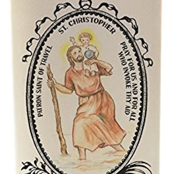 St Christopher Patron of Travel 20 oz Soy Scented Prayer Candle