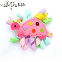 Little Turtle Felt hair clip girls hair clip by Snugglebugkidz