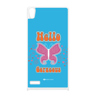 Sassy - Hello Gorgeous 10433 White Silicon Rubber Case for Huawei P6 by Sassy Slang