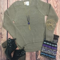 Extreme Elevations Sweater: Mocha