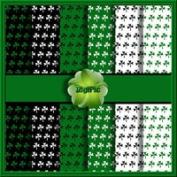 "COMMERCIAL USE OK 6 Digital St Patricks Day Shamrock Scrapbook Papers, 12""x12"" 300Dpi Instant Download"