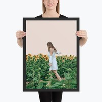 Lost in Sunflowers Framed Poster