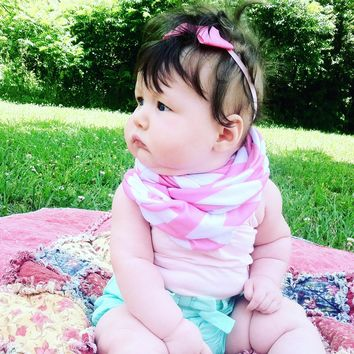 Light Pink Chevron Toddler Infinity Scarf