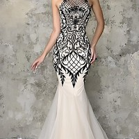 Embroidered Nina Canacci Prom Dress