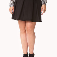 Sophisticated Pleated Skater Skirt