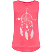 Full Tilt Dreamcatcher Girls Muscle Tank Coral  In Sizes