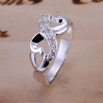 Jewelry Infinity Rings Forever Love Cubic Zirconia Anniversary Promise Ring Silver Color For Women Gift Wedding Accessories