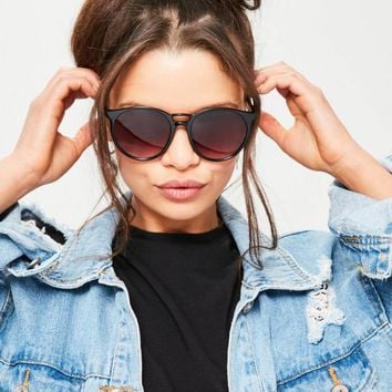 Missguided - Black Round Club Sunglasses