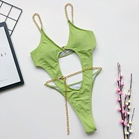 Bandage Thong Swimwear Sexy Bathing Suit Women Monokini String Bikini Push Up Female Swimsuit One Piece Bodysuit