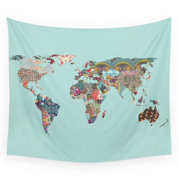 Society6 Louis Armstrong Told Us So (teal) Wall Tapestry