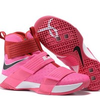 DCCK3 Nike Men's Lebron Soldier 10 Basketball Shoes Pink 40-46