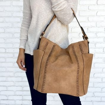 Fix Stitch Vegan Leather Handbag