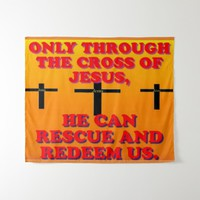 Through The Cross Of Jesus, We Are Redeemed! Backdrop