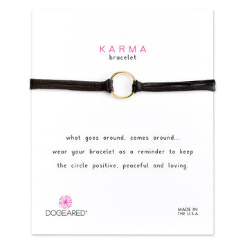 Dogeared | Black Karma Bracelets (Gold and Silver)