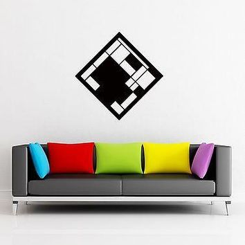 Wall Stickers Vinyl Decal Modern Abstract Geometrical Shape Unique Gift z1249