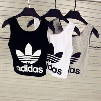 Adidas Woman Fashion Casual Print Sport Gym Vest Tank Top Cami