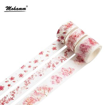 Kawaii Pink Cherry Blossoms Japanese Decorative Washi Tape DIY Scrapbooking Masking Tape School Office Supply Escolar Papelaria