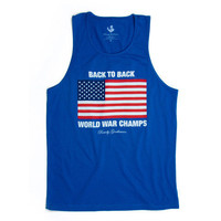 Back To Back World War Champs Tank Top - Royal