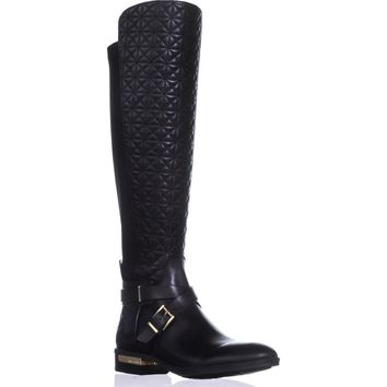 Vince Camuto Patira Wide Calf Over-the-Knee Boots, Black, 7.5 US