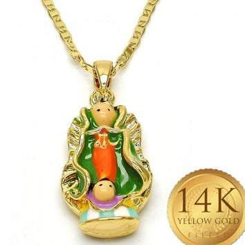 Gold Layered Women Guadalupe Fancy Necklace, by Folks Jewelry