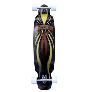 "GRAVITY MINI KICK SACRED GOLD 40"" COMPLETE LONGBOARD SKATEBOARD"