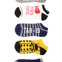 Doctor Who No-Show Socks 5 Pair | Hot Topic