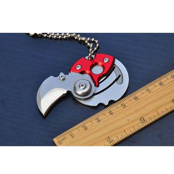 Self personal defense Mini Folding Coin Knife EDC Carry Tool Small Pocket Knife Keychain with Hanging Key Chain Survival Outdoor