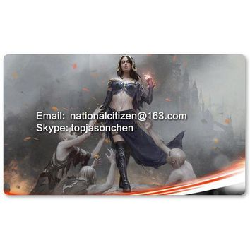 ONETOW Many Playmat Choices - Liliana, Defiant Necromancer - MTG Board Game Mat Table Mat for Magical Mouse Mat the Gathering 60 x 35CM