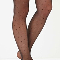 Dotted Mesh Tights