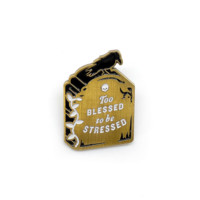 #Blessed Tombstone Lapel Pin