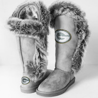 "Green Bay Packers Women's Cuce Official NFL ""Winner"" Boots"